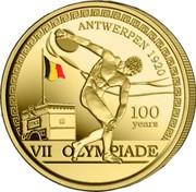 Belgium 2 1/2 Euro 100 years Olympic Games - Antwerp. Coloured 2020 ☤ VII OLYMPIADE ANTWERPEN 1920 100 YEARS coin obverse