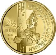 Belgium 2 1/2 Euro 100 years Olympic Games - Antwerp. Coloured 2020 ☤ BELGIE BELGIQUE BELGIEN 2 1/2 EURO 2020 coin reverse