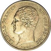Belgium 2 1/2 Francs 1848 KM# 11 Decimal Coinage LEOPOLD PREMIER L. WIENER ROI DES BELGES coin obverse