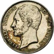 Belgium 2 1/2 Francs 1849 KM# 12 Decimal Coinage LEOPOLD PREMIER ROI DES BELGES L WIENER coin obverse