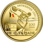 Belgium 2,50 Euro (100 years Olympic Games - Antwerp. Coloured) VII OLYMPIADE ANTWERPEN 1920 100 YEARS coin obverse