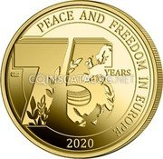 Belgium 2,50 Euro (75 years Peace and Freedom in Europe) PEACE AND FREEDOM IN EUROPE 2020 75 YEARS 40-45 coin obverse