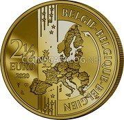 Belgium 2,50 Euro (75 years Peace and Freedom in Europe) BELGIE BELGIQUE BELGIEN 2 1/2 EURO 2020 coin reverse