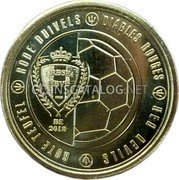 Belgium 2,50 Euro (The Red Devils) URBSFA - KBVB BE 2018 DIABLES ROUGES RED DEVILS ROTE TEUFELS RODE DUIVELS coin obverse