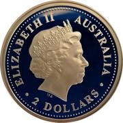 Australia 2 Dollars Kookaburra 2004 P KM# 884 ELIZABETH II AUSTRALIA IRB 2 DOLLARS coin obverse