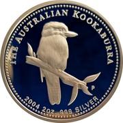 Australia 2 Dollars Kookaburra 2004 P KM# 884 THE AUSTRALIAN KOOKABURRA SA P 2004 2 OZ 999 SILVER coin reverse