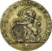 Belgium 2 Escalins 1753 (h) KM# 16 Standart Coinage MAR TH D G R JMP G HUN BOH R coin obverse