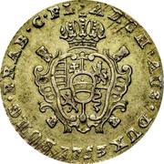 Belgium 2 Escalins 1753 (h) KM# 16 Standart Coinage ARCH AUS DUX BURG BRAB C FL 1753 coin reverse