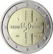 Belgium 2 Euro (150th Anniversary of the Belgian Red Cross) RODE KRUIS 150 CROIX ROUGE BE 2014 coin obverse