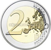 Belgium 2 Euro (150th Anniversary of the Belgian Red Cross) 2 EURO LL coin reverse