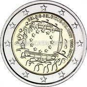 Belgium 2 Euro (30th Anniversary of the Flag of Europe) BELGIE BELGIQUE BELGIEN 1985-2015 ΓΣ coin obverse