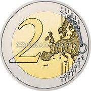 Belgium 2 Euro (30th Anniversary of the Flag of Europe) 2 EURO LL coin reverse