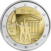 Belgium 2 Euro (50th Anniversary of the Student Revolt of May) MEI - 1968 MAI 2018 BE coin obverse