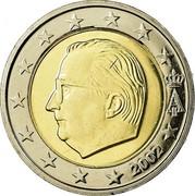 Belgium 2 Euro Albert II - 1st map - 1st type - 1st portrait 2002 KM# 231 A II 2000 coin obverse