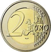 Belgium 2 Euro Albert II - 1st map - 1st type - 1st portrait 2002 KM# 231 2 EURO LL coin reverse