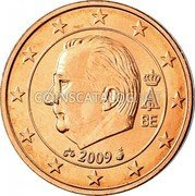 Belgium 2 Euro Cent KM# 296 Country Standart Coinage A II BE 2009 coin obverse