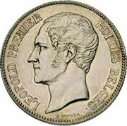 Belgium 2 Francs 1849 KM# 10 Decimal Coinage LEOPOLD PREMIER ROI DES BELGES L WIENER coin obverse