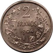Belgium 2 Francs 1904 KM# 58.1 Decimal Coinage 2 FRANCS 1904 coin reverse