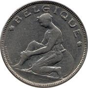 Belgium 2 Francs 1923 KM# 91.2 Decimal Coinage BELGIQUE BONNETAIN coin obverse