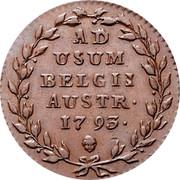 Belgium 2 Liards 1793 (b) KM# 57 Standart Coinage AD USUM BELGII AUSTR 1795 coin reverse