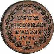 Belgium 2 Liards (2 Oorden) 1790 (b) KM# 45 Insurrection Coinage coin reverse