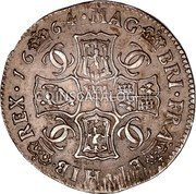 UK 2 Merks 1664 KM# 103.1 Scotland coin reverse