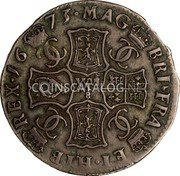 UK 2 Merks 1673 KM# 103.2 Scotland coin reverse
