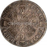 UK 2 Merks 1675 KM# 103.4 Scotland coin reverse