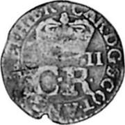UK 2 Pence 1663 KM# 100 Scotland CAR D G SCOT ANG FRA E HIB R C R coin obverse