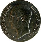 Belgium 20 Centimes 1858 KM# 19 Decimal Coinage LEOPOLD PREMIER ROI DES BELGES L.W. coin obverse