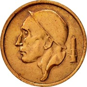 Belgium 20 Centimes 1954 KM# 147.1 Decimal Coinage RAU coin obverse