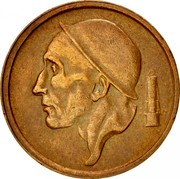 Belgium 20 Centimes 1959 KM# 146 Decimal Coinage RAU coin obverse