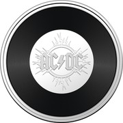 Australia 20 Cents AC/DC 45th Anniversary 2021 UNC in Coincard in 7 Coin Set AC/DC coin reverse