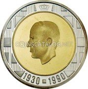 Belgium 20 ECU 1990 (qp) Proof KM# 177 European Currency Units coin obverse