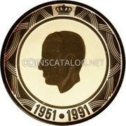 Belgium 20 ECU 1991 (qp) Proof KM# 182 European Currency Units coin obverse