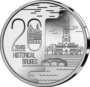 Belgium 20 Euro 20 Years Historical city center Bruges world heritage 2020 20 YEARS HISTORICAL BRUGES coin obverse