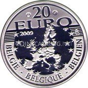 Belgium 20 Euro 2009 Proof KM# 287 European Union Issues coin obverse