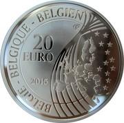 Belgium 20 Euro 70 Years of Peace in Europe 2015 Proof KM# 350 BELGIE BELGIQUE BELGIEN 20 EURO 2015 Q P coin obverse