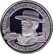 Belgium 20 Euro Canonization of Father Damien 2009 Proof KM# 287 TREMELO DAMIANVS MOLOKAI 11 - X - 2009 coin reverse