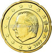 Belgium 20 Euro Cent 2007 Proof KM# 243 European Union Issues coin obverse