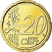 Belgium 20 Euro Cent 2007 Proof KM# 243 European Union Issues coin reverse