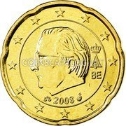 Belgium 20 Euro Cent 2008 Proof KM# 278 European Union Issues coin obverse