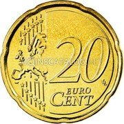Belgium 20 Euro Cent 2008 Proof KM# 278 European Union Issues coin reverse
