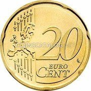 Belgium 20 Euro Cent 2014 KM# 335 European Union Issues coin reverse