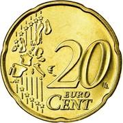 Belgium 20 Euro Cent Albert II - 1st map - 1st type - 1st portrait 2002 KM# 228 20 EURO CENT LL coin reverse
