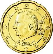 Belgium 20 Euro Cent (Albert II) KM# 299 A II BE 2011 coin obverse