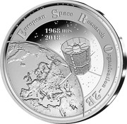Belgium 20 Euro ESRO-2B 2018 EUROPEAN SPACE RESEARCH ORGANISATION - 2B 1968 IRIS 2018 coin obverse
