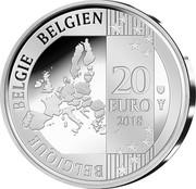 Belgium 20 Euro ESRO-2B 2018 BELGIQUE BELGIE BELGIEN 20 EURO 2018 coin reverse