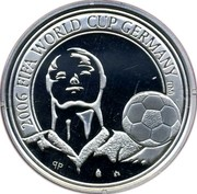 Belgium 20 Euro FIFA World Cup in Germany 2005 Proof KM# 254 2006 FIFA WORLD CUP GERMANY TM coin reverse