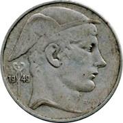 Belgium 20 Francs 1949 KM# 140.2 Decimal Coinage 19 49 RAU coin obverse